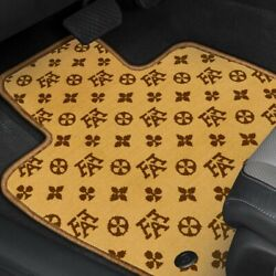 For Bmw X1 16-20 Fashion Auto Mat Carpeted 1st And 2nd Row Terracotta Floor Mats