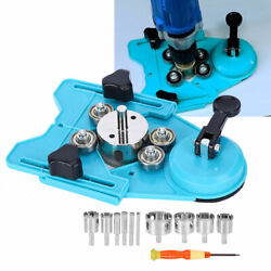 Adjustable Ceramic Tile Glass Hole Saw Drill Bits Tool Set Guide Locator 6-50 Mm