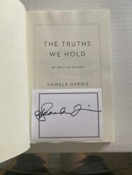 Vice President Kamala Harris Signed Autograph The Truths We Hold Book - Rare C