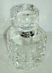 Art Deco Perfume Bottle - Clear Cut Fauceted Crystal 1 Lb / New Unused