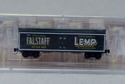 Z Scale-micro Trains 518 00 210 Lemp Brewing Falstaff Beer Wood Reefer 1504 Nos