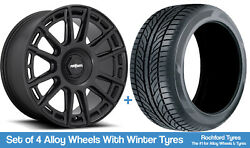 Rotiform Winter Alloy Wheels And Snow Tyres 19 For Ford Edge 15-20