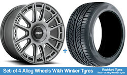Rotiform Winter Alloy Wheels And Snow Tyres 19 For Vw Golf Plus 05-09