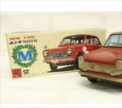Antique Japanese Tin Toys 光球商会 Honda N 360 M New Type Made In Japan Red Car Y