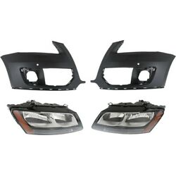 Set Of 4 Headlights Lamps Left-and-right Lh And Rh For Audi Q5 2009-2012