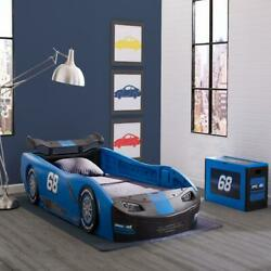 Bed Kids Children Race Car Twin For Boys And Girls Blue Toy New