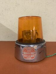 Vintage Federal Sign And Signal Beacon Ray Model 15 A Amber Rotating Lights