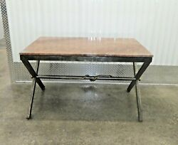 Gorgeous Neoclassical Iron And Marble Rectangular Center Table W Snake