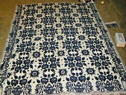 Antique 1845 Hand Woven Family Hand Down Coverlet 68 X 82