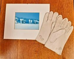 Donald Campbell Water Speed Kid Leather Signed Gloves W Picture Of Blue Bird K7