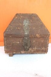 Jeweler Cane Box Old Vintage Antique Collectible Christmas Gifts F-15