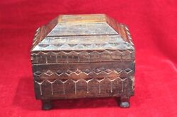 Wooden Box Carved Antique Vintage Decoration Jewelry Box Christmas Gifts Bb-36
