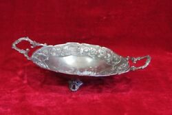 White Metal Tray Old Vintage Antique Decorative Collectible Christmas Gift Pm-37