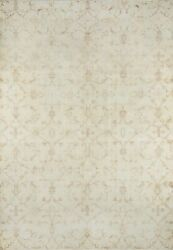 Momeni Heirlooms Vintage Overdye Hand Knotted Wool Beige Area Rug 6'10 X 9'7