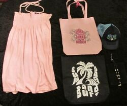 Womens JR tote beach bags surf baseball hat shell necklace beach cover up $10.00