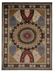 Hand Knotted Lichi Izmir Wool 6and0394and039and039x9and0397and039and039 Area Rug Oriental Blue Bbh Bbif0107