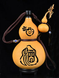 Natural Gourd Portable Water Bottle Wine Gourd Home Decoration Birthday Gift 葫芦