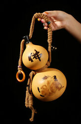 Natural Gourd Portable Water Bottle Wine Gourd Home Decoration Birthday Gift 佛公