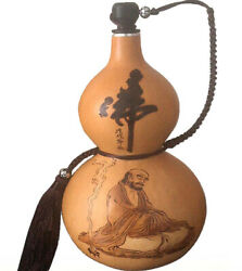 Natural Gourd Portable Water Bottle Wine Gourd Home Decoration Birthday Gift 达摩