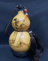 Natural Gourd Portable Water Bottle Wine Gourd Home Decoration Birthday Gift 诗仙