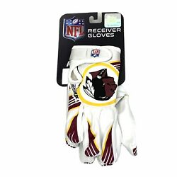 Washington Redskins Official Nfl Receiving Gloves - Youth M - Collectors Item