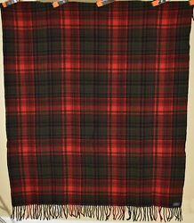 Vintage 30's Pendleton Mills Wool Blanket W/label Nice Red And Great Condition