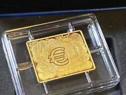 France 2021 20 Years Of Euro Starter Kit Brilliant Proof Gold Coin 50€ Serial 32