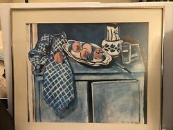 """Henri Matisse 1928 Oil Painting """"dishes And Fruit 29.5""""x 25.5"""""""