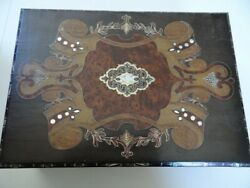 Very Fine Antique Beautifully Inlaid Writing Slope Box Desk