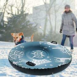 47 Inch Pvc Inflatable Snow Sled Thickened Snow Tube With Handle For Kids Adults