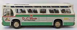 Rare Vintage 50s Atc Japan Tin Friction Dc Transit Articooler Fishbowl Bus Toy