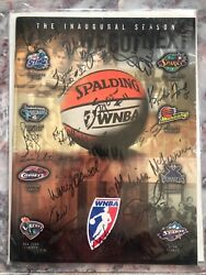 1997 New York Liberty Wnba Team Signed Autographed Program 5 Of 97 With Msg Coa