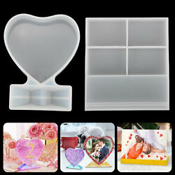DIY Silicone Epoxy Resin Mold Mould Love Photo Picture Frame Craft Home Decor US