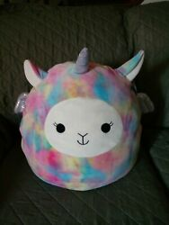 Squishmallow Lucy May Llamacorn 20 Pillow Wrong Tag Kellytoy Squishmallows Soft