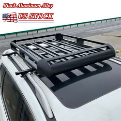 50'' Car Suv Roof Rack Top Cargo Luggage Bicycle Canoes Carrier Basket Us Stock