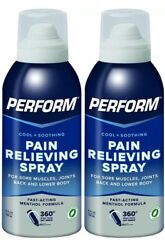 Perform Pain Relieving Cooling Spray Sore Muscle Joint Pain Arthritis Ache 2 Pk.