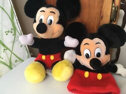 Vintage Mickey Mouse Disney Parks Plush And Hand Puppet Made In Korea