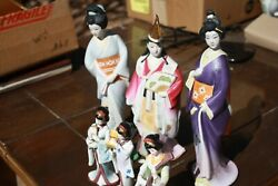 3 Japan Seyei, Porcelain, Figural Bottles, Cherry, Coffee, And 12 Inches Tall,