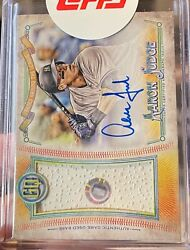 2018 Topps Gypsy Queen Aaron Judge Od Base, On-card Auto /20 Yankees Hologram