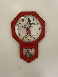 Rare Disney Mickey Mouse Welby By Elgin Mail Order Plug In Clock 1974 Works