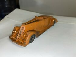 Rare 1930s Vintage Metal Masters Co. Toy Car Cadillac Roadster With Tires