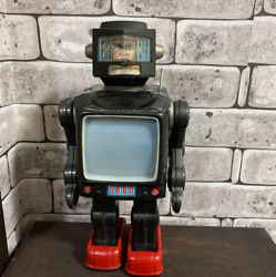 Antique Tin Toys Astro North, A Television Robot Manufactured By Horikawa Rare M