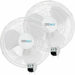 16 Wall Mount Fan Oscillating 3-speed Quite For Industrial Home Grow Room