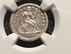 1849-o Dime Ngc Xf Details Scratched Half Price Of A No Problem Coin