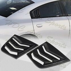 For 2011-2021 Dodge Charger Abs Black Side Window Louvers Scoop Cover Vent 2pcs
