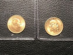 1876 And 1932 10 Gulden Netherlands Gold Coins Both Uncirculated 2 Coins