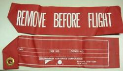 Surplus Military Remove Before Flight Aircraft Warning Banner Free Us Ship