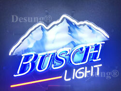 New Busch Light Mountain Lamp Neon Sign 19x15 With Hd Vivid Printing