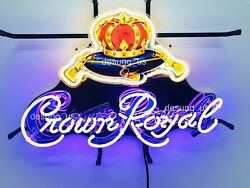 New Crown Royal Whiskey Light Lamp Neon Sign 24x20 With Hd Vivid Printing