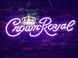 New Crown Royal Whiskey Light Lamp Neon Sign 24x10 With Hd Vivid Printing